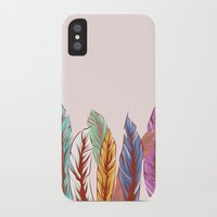 feathers iPhone & iPod Cases featuring Feathers by melcsee