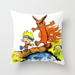 Homicidal Psycho Ninja Fox Throw Pillow