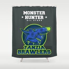 Monster Hunter All Stars - The Tanzia Brawlers Shower Curtain