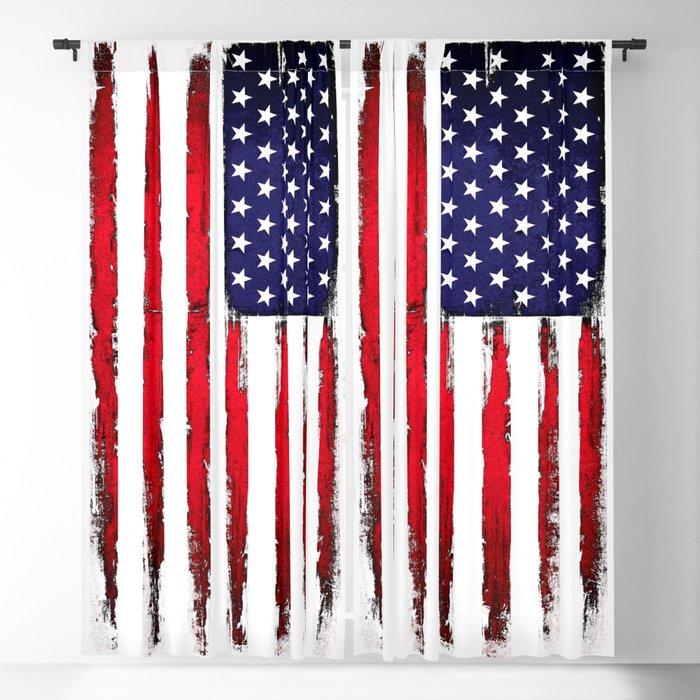 Vintage American flag Blackout Curtain