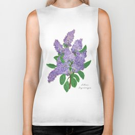 Lilacs: Syringa Biker Tank
