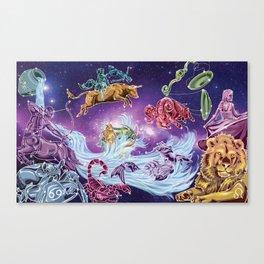 The Zodiac Sky Canvas Print