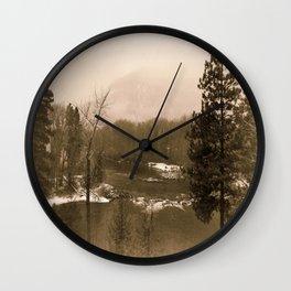 Washington Christmas Landscape Wall Clock