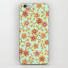 Candy Apple Blossom Aqua iPhone & iPod Skin