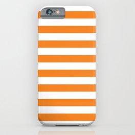 Horizontal Orange Stripes iPhone Case