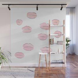Pink Lips Wall Mural