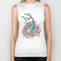 koi fish Biker Tanks featuring Koi Fish by Bare Wolfe