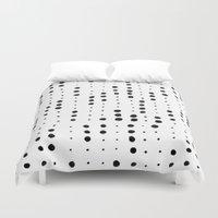 dot Duvet Covers featuring dot dot dot by Berlyn Hubler