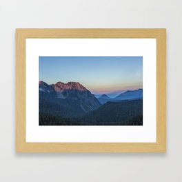 Dawn Color at Inspiration Point Framed Art Print