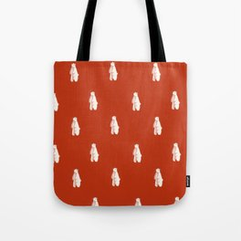 Christmas Red Polar Bear Tote Bag