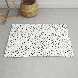spotty dotty in black and white Rug