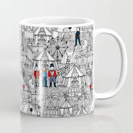 retro circus bw col Coffee Mug
