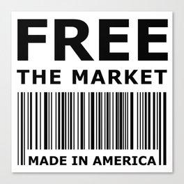 Free The Market Canvas Print
