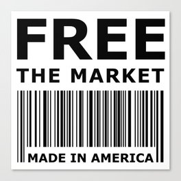 Free The Market Canvas Print