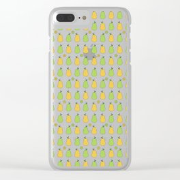 Delicious Pears Pattern Clear iPhone Case