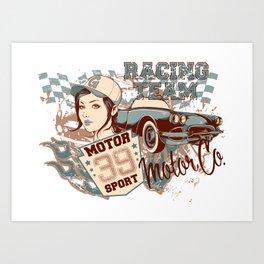 Racing Team Art Print