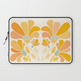 Summer Wildflowers in Golden Yellow Laptop Sleeve