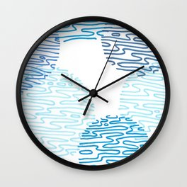 Denim Discoid Wall Clock