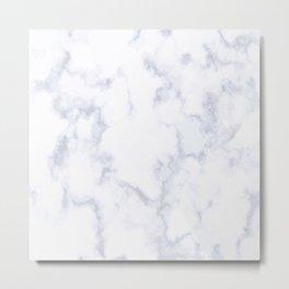 Marble White & Gray Metal Print