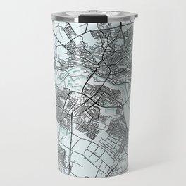 Arnhem, Netherlands, White, City, Map Travel Mug
