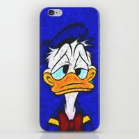 donald duck iPhone & iPod Skins featuring Donald Duck by DisPrints