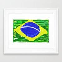 brasil Framed Art Prints featuring BRASIL by Fabiano ART