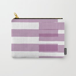 Big Stripes in Purple Carry-All Pouch
