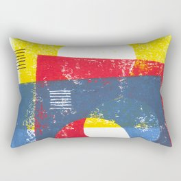 Basic in red, yellow and blue Rectangular Pillow