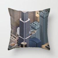 metropolis Throw Pillows featuring Metropolis by Soak
