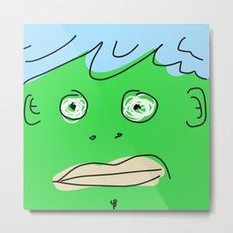 Green Monsta Metal Print
