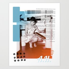 A.H. Collage Art Print