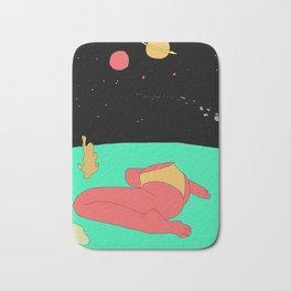 Space Bum Bath Mat
