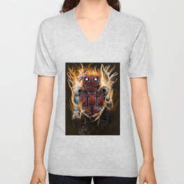 The Lady and The Robot Unisex V-Neck