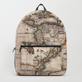 North & South America map 1658 with 2017 enhancements Backpack