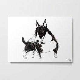 Miniature Bull Terrier Metal Print