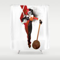 harley Shower Curtains featuring Harley Quinn by nachodraws