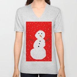 Simple Snowman Unisex V-Neck