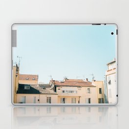 Pretty pretty Cannes   Pastel colored apartment buildings in the South of France Laptop & iPad Skin