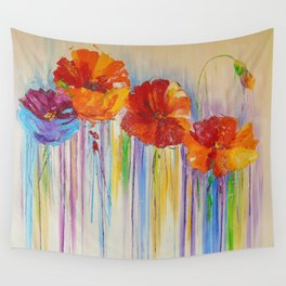 Flower abstraction Wall Tapestry
