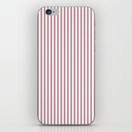Dark Red Pear Mattress Ticking Narrow Striped Pattern - Fall Fashion 2018 iPhone Skin