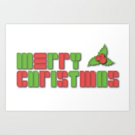 Merry Christmas - Christmas Cheer Art Print