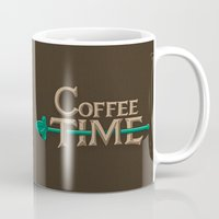 coffee Mugs featuring Coffee Time! by powerpig