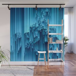 Frozen Winter Blue Holiday Christmas Ice Wall Mural