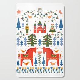 Scandinavian Fairtytale - Green + Red Cutting Board