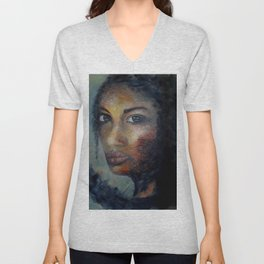 Courage by Lu Unisex V-Neck
