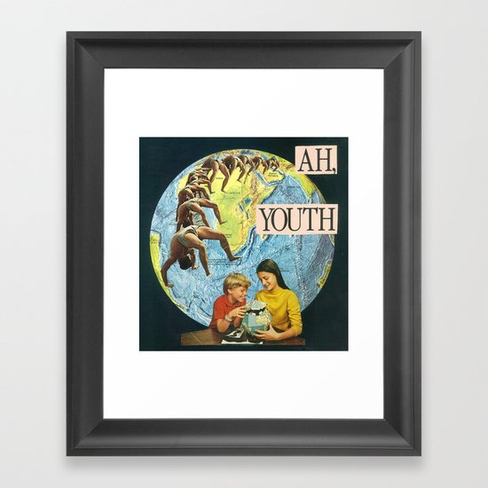 ah, youth Framed Art Print