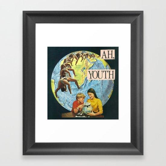 ah, youth Framed Art Print