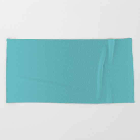 Simply Aqua- Mix and Match- A darker day at the Beach Beach Towel