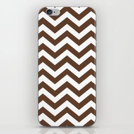 Chocolate Brown Chevron Zig Zag Pattern iPhone Skin