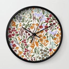 Spring flowery meadow 02 Wall Clock